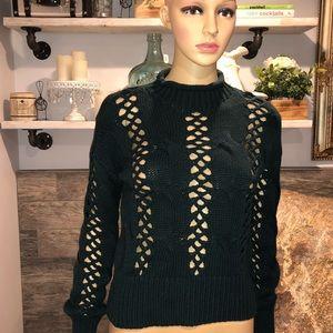 Express peekaboo sweater size small